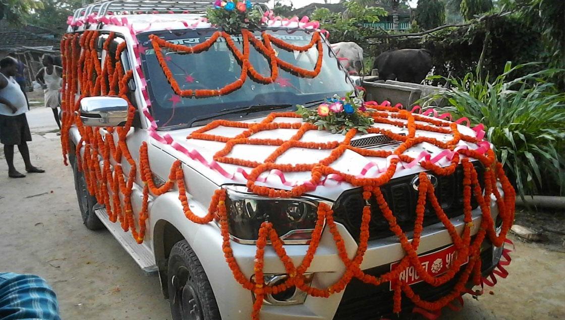 Scorpio Jeep for Wedding